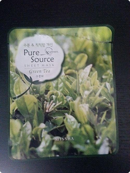 Missha: Pure Source Sheet Mask Green Tea