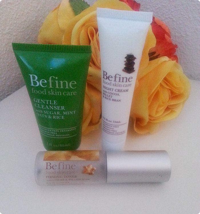Befine: Crema de Limpieza Suave, Tónico Reafirmante y Crema de Noche