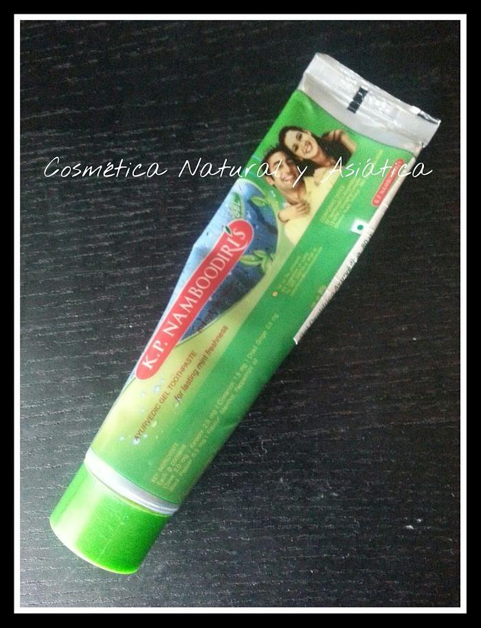 KP Namboodiris: Gel dentífrico ayurvedico