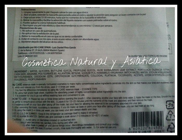 mijin-cosmetics-platinum-essence-mask-ingredientes