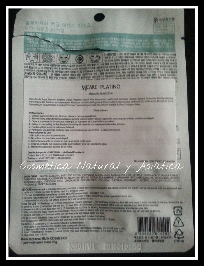 mijin-cosmetics-platinum-essence-mask-instrucciones