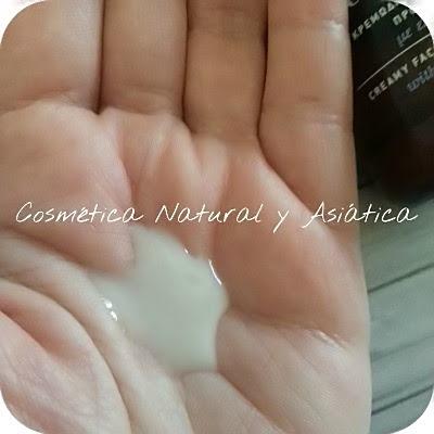 Apivita-Crema-espuma-Rostro-Ojos-Oliva-Lavanda-textura