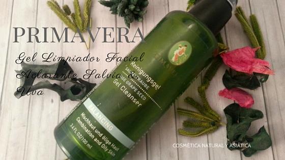 Primavera: Gel Limpiador Facial Aclarante Salvia & Uva
