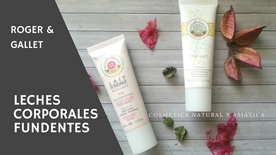 Roger & Gallet: Leches Corporales Fundentes Thé Vert y Rose
