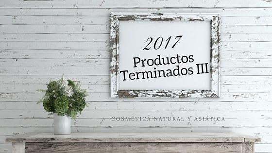 Productos terminados 2017 III